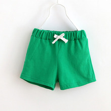 Free Shipping Child Solid Color Shorts Children's clothing 2016 Summer Child Casual Pants Unisex Boy Girl Sports Shorts YY1505