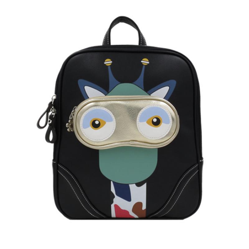 Newest 2015 Designer Printing Cartoon Shoulder Bag Korean Fashion Casual Backpack Women Men Unique Pattern Schoolbag BP388<br>