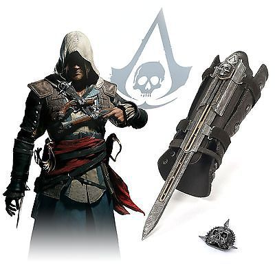 Гаджет  NECA Assassins Creed IV  4 :  Black Flag Pirate Hidden Blade Edward Kenway Cosplay New in Box WHOLESALE None Игрушки и Хобби