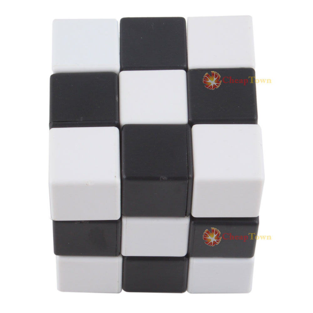 CheapTown Shop Black & White 3x3x3 Speeding Magic Cube Twisty Puzzle Square IQ Toy Gift(China (Mainland))