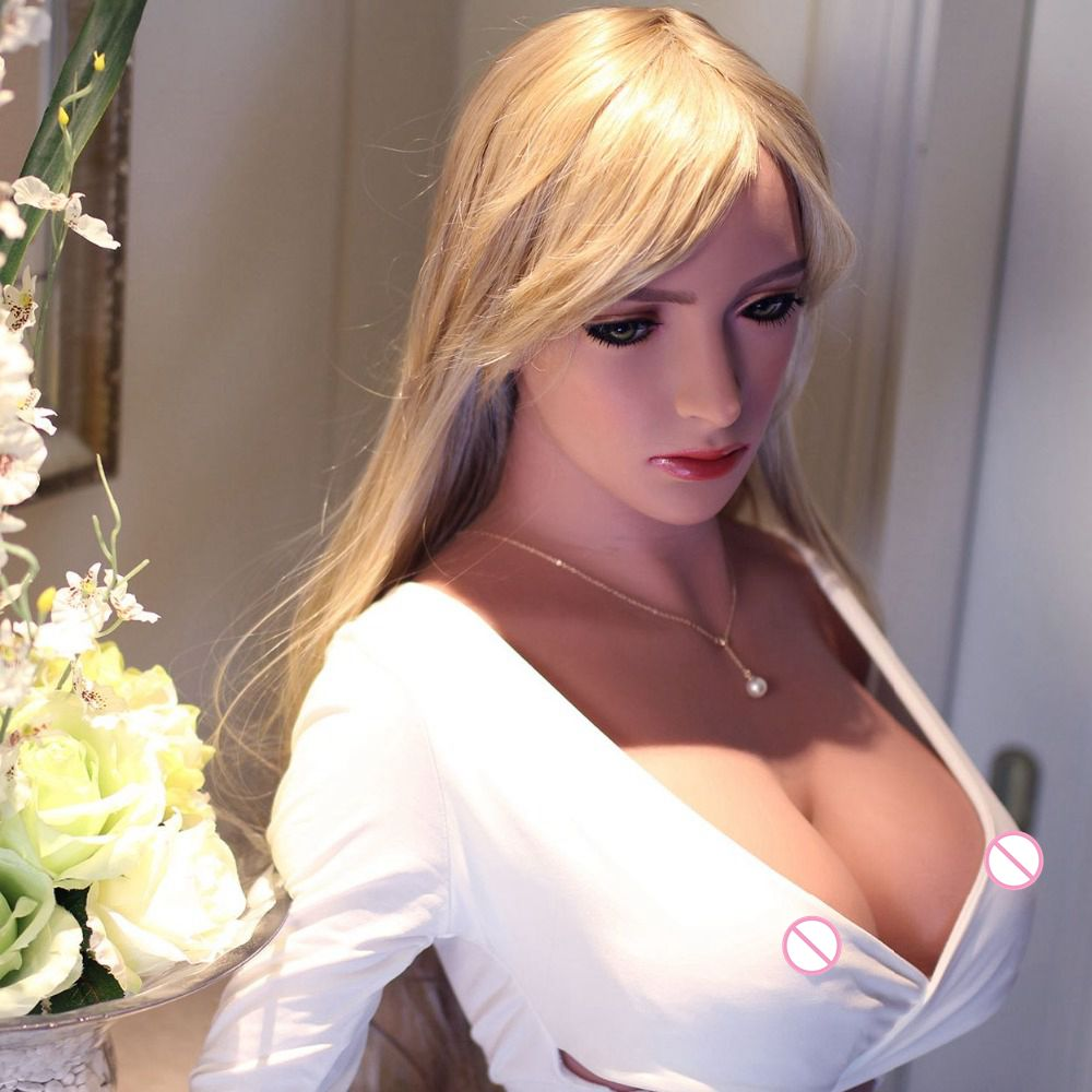 2016 new 168 cm tall japanese full silicone metal skeleton sex doll real lifelike big breast adult love doll sex toy for men(China (Mainland))
