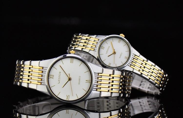 WHESTCHI часы мужчин бренд новый роскошные часы diamond dial maasculino stainlee стали бизнес кварцевые наручные часы relogio