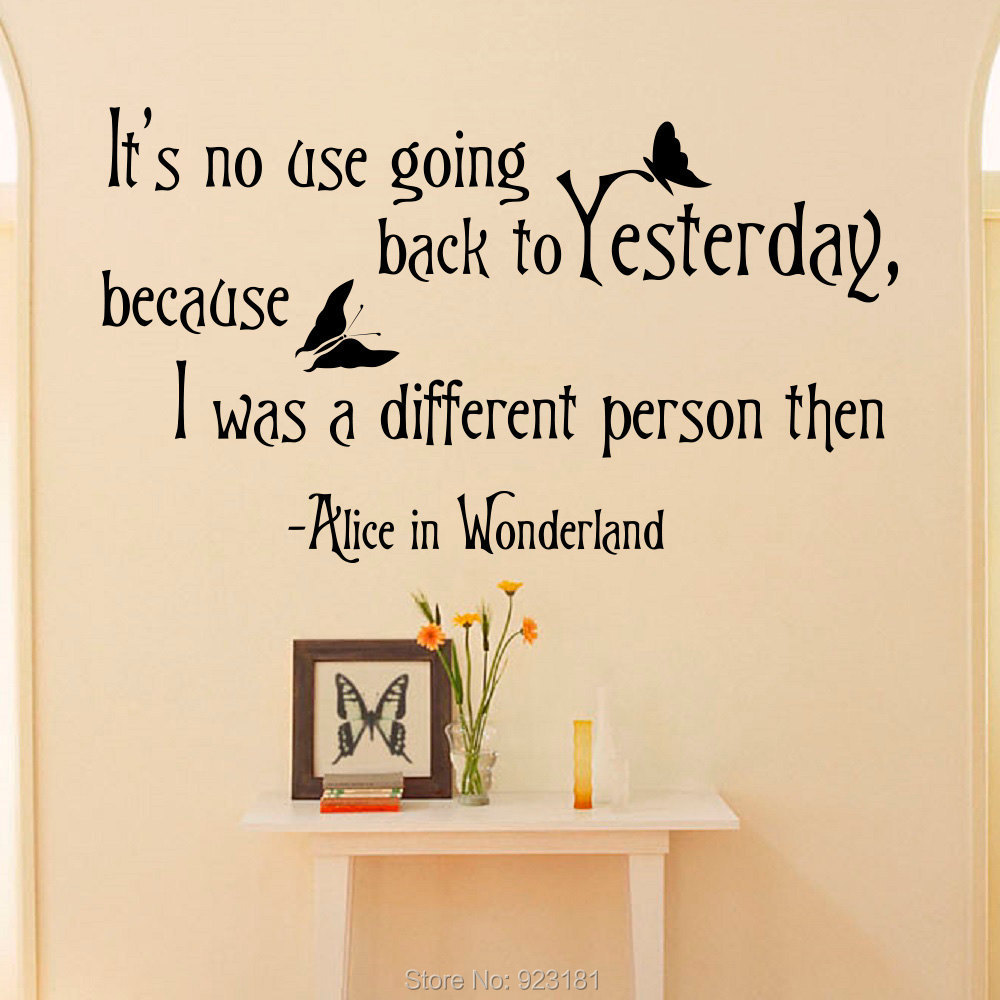 Hot Alice In Wonderland Quotes Wall Art Sticker Decal Home DIY