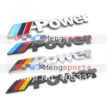 100pcs Metal Mpower M3 M5 Mtech Black Chrome Badges Emblem MIX