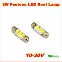 Free shipping 2013 newest High Bright 3W 36mm  S8.5 Car  Festoon LED Dome Reading  Interior Light Bulb