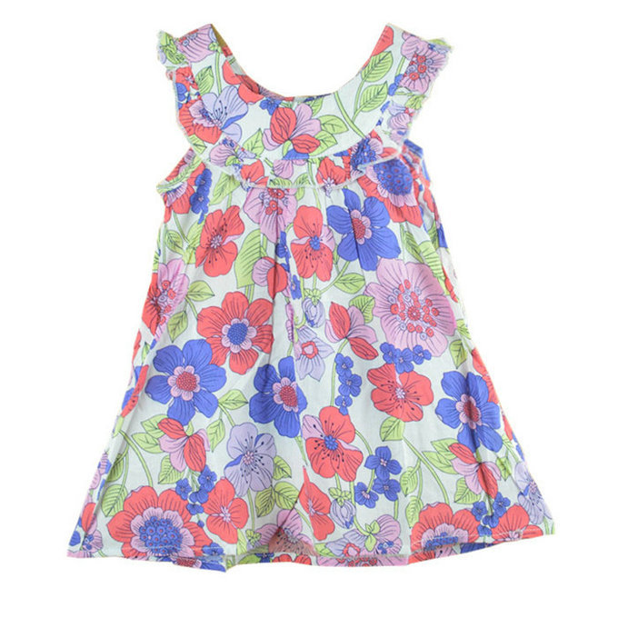 girls dress new designer cotton 2015 summer flower child clothing baby girl princess dresses - Baby Girl Dresses New store