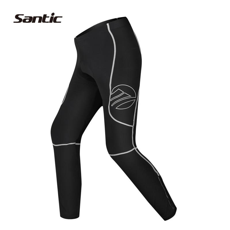 2016 Santic Winter Cycling Pants Men Long Cycling Pants compression gel pantalones Thermal Waterproof Cycling Pants S15164802H<br><br>Aliexpress