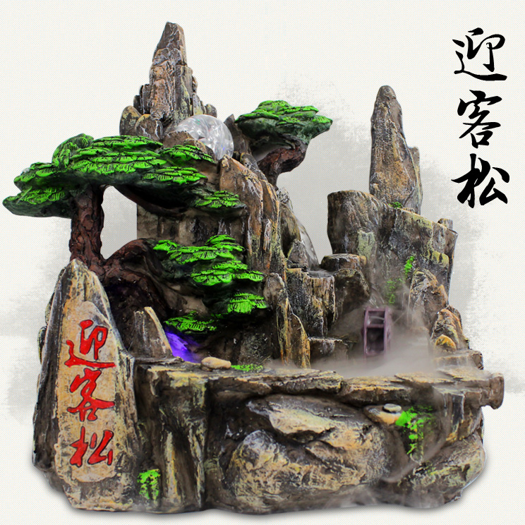 Indoor lucky water fountain resin home decoration