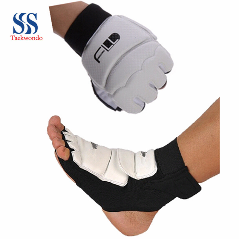 Taekwondo foot combat Gauntlets children set foot ankle fist sanda competition protection gear(China (Mainland))