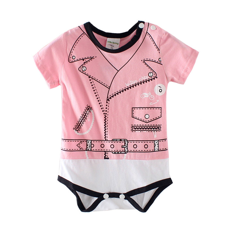 Boy&girl body suits punk style baby romper cotton one-piece 4 different styles jumpsuit summer style christmas ababy clothes(China (Mainland))