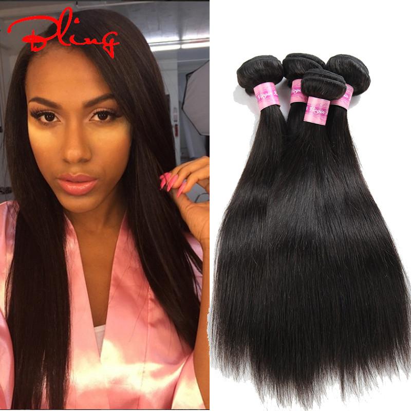 7A Brazilian Virgin Hair Straight 3Bundles Unprocessed Human Hair Extensions Rosa Hair Products Brazilian Straight Hair 100g/pc<br><br>Aliexpress
