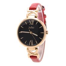 Señora Woman reloj de cuarzo horas mejor vestido de moda de corea pulsera marca de cuero caramelo elegante regalo de la muchacha JA747