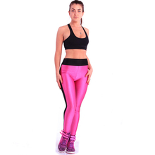 Hot sale women's sports knee length leggings pants fitness leggings exercise gym wear training leggings spandex free shipping