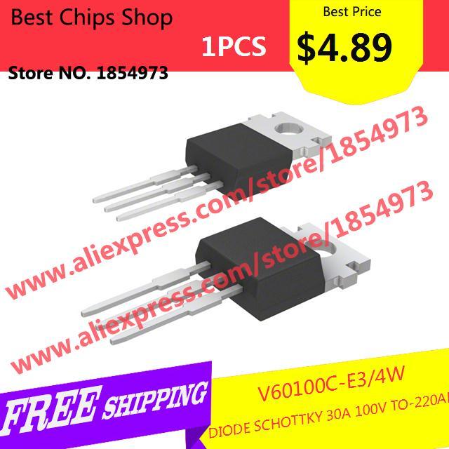 Free Shipping 1PCS=$4.89 Diy Kit Electronic Production V60100C-E3/4W DIODE SCHOTTKY 30A 100V TO-220AB V60100C-E3 60100 V60100(China (Mainland))