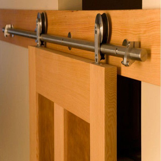 Compra puerta del establo interior online al por mayor de for Puerta granero madera