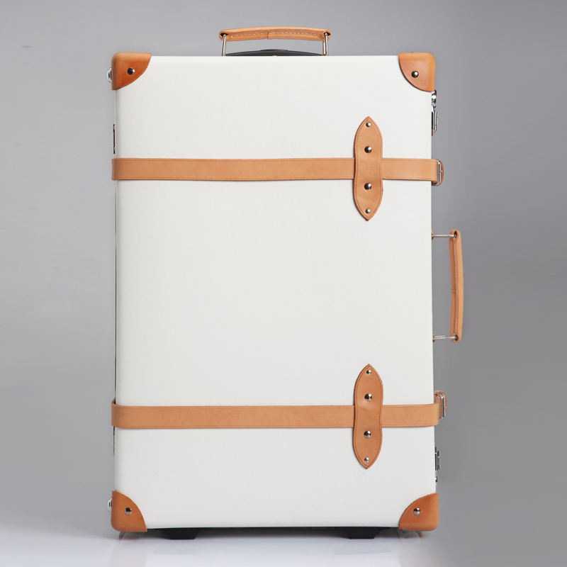 White vintage travel bag trolley luggage suitcase luggage password box bookcase(China (Mainland))