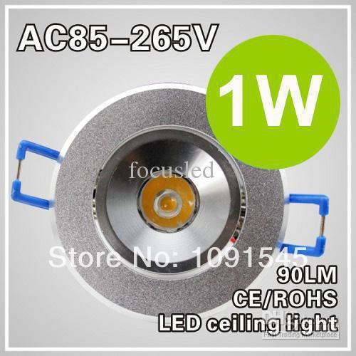 Wholesale - Mini Led Down Light 1W Soft Warm White 3000K Led Fixture Ceiling Light Lamp AC110-220V 3years Warranty Free Shipping(China (Mainland))