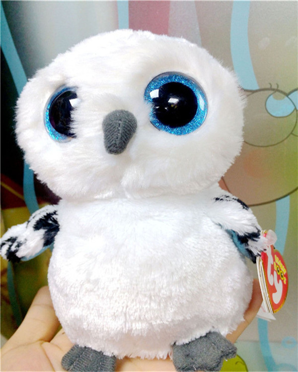 Ty Beanie Boos Original Big Eyes Plush Toy Doll 10 - 15cm White Owl TY Baby For Kids Brithday Gifts(China (Mainland))