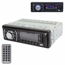 LED Colorful Display Stereo USB2.0 MP3 Player Car FM Radio Receiver Aux Input 50W x 4(China (Mainland))