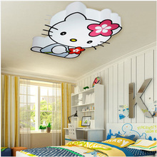 LED Modern Hello Kitty Cat Ceiling Lights Fixture Cute Girls Kids Children Ceiling Lamp Bedroom Living Room Home Indoor Lighting(China (Mainland))