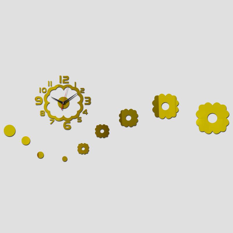 2015 venda direta 3d espelho acrílico arte relógio seguro decoração moderna casa diy relógio frete grátis