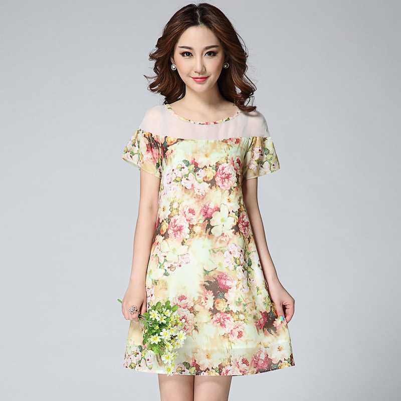 Top Quality summer dress new fashion dresses fairy character sweet Printing font 8522 1435384664(China (Mainland))