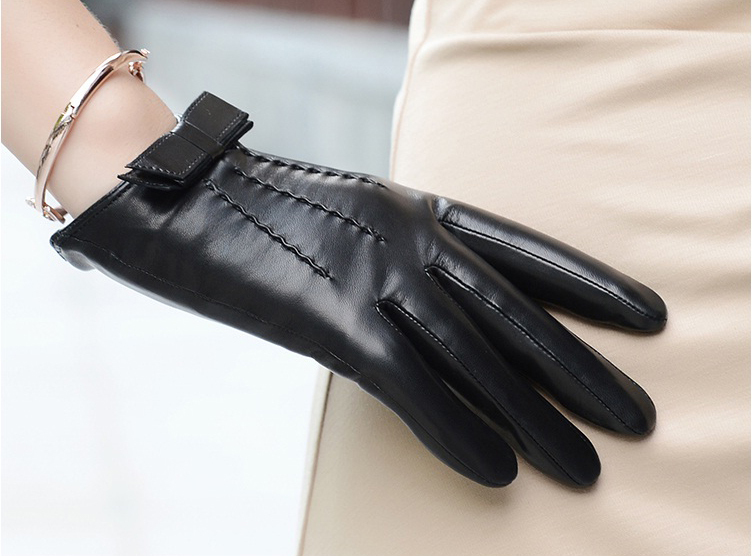 Leather gloves female genuine leather winter thermal women sheepskin - Better PPE Products Co.,Limited store