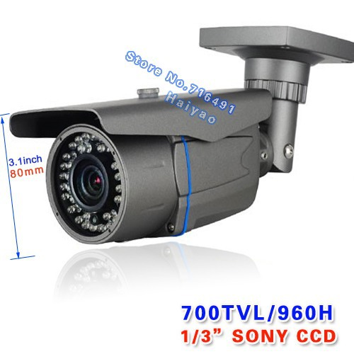 Security Sony Effio-e CCD 700tvl 960H 48 leds IR 40 meters outdoor surveillance CCTV Camera with bracket free shipping<br><br>Aliexpress