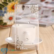 Buy New 3D Flower bling Crystal diamond Transparent back cover hard case Sony Xperia T2 Ultra XM50h Capa Carcasa funda for $4.20 in AliExpress store