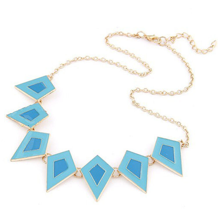 Wholesale Price Cheap Jewelry For Women Metal Necklaces & Pendants Triangle Chunky Necklace Collier Femme Bijoux Nice Gift(China (Mainland))