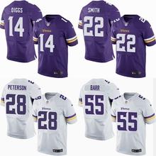 2016 elite Men Minnesota Vikings 5 Teddy Bridgewater 28 Adrian Peterson 22 HARRISON SMITH Diggs Purple/White 11 Laquon Treadwell(China (Mainland))