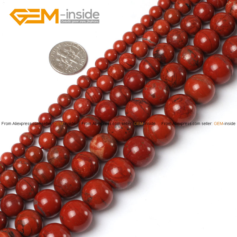 """Red Jasper Beads 2014 Fashion Round Selectable 2-16mm,Natural Stone Beads For Jewelry Making Diy Bracelet Necklace Strand 15""""(China (Mainland))"""