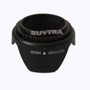 Hot Universal Digital Camera Lens Hood for Canon Nikon Blcak Len Hoods For Camera 1pc Screw