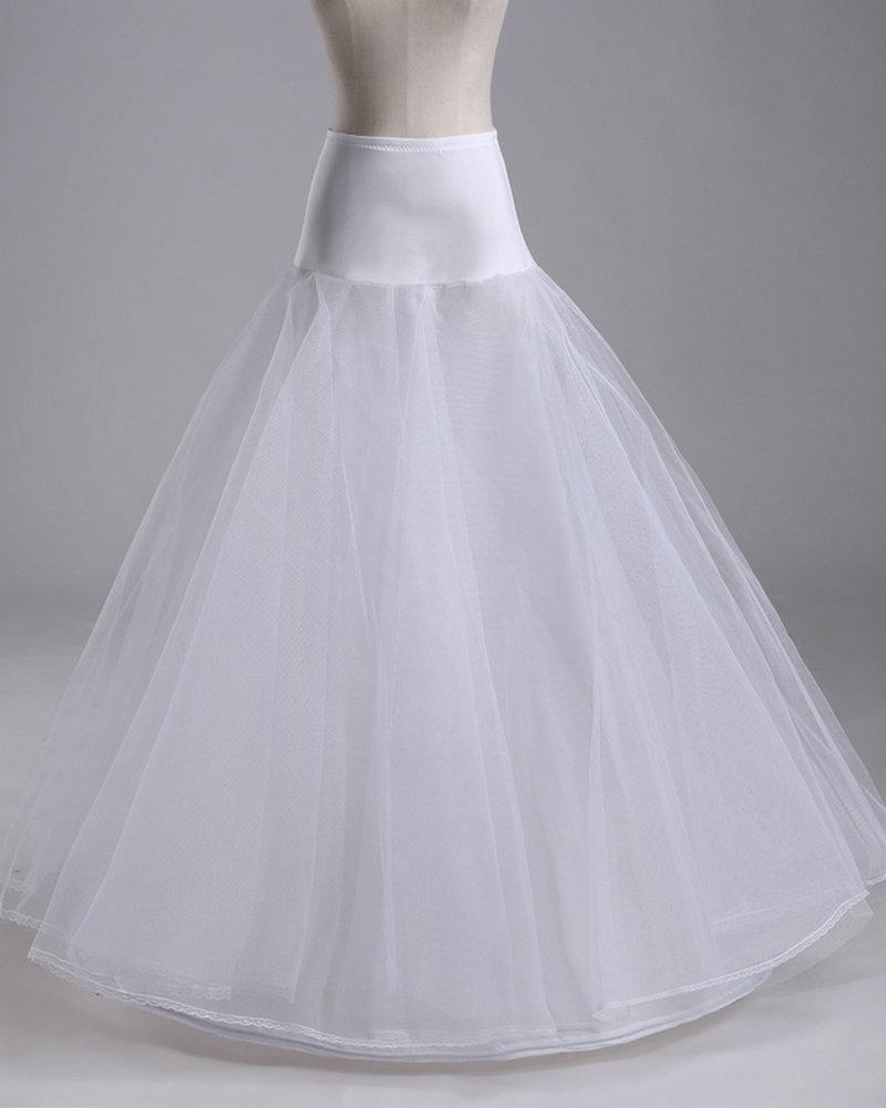 2016 Hot Sale 1 Hoop A Line Bone Petticoats For Wedding Dress Wedding Skirt Accessories Slip