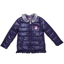 girls coat lace collar polka dot pattern delicate pearl design children winter outwear sweet girls jacket