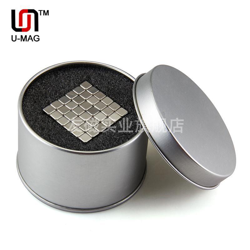 Гаджет  Free shipping wholesale 216pcs Strong Block 5x5x5mm N50 Rare Earth NdFeB Cuboid neodymium Magnet+Free Gift Tin Box None Строительство и Недвижимость
