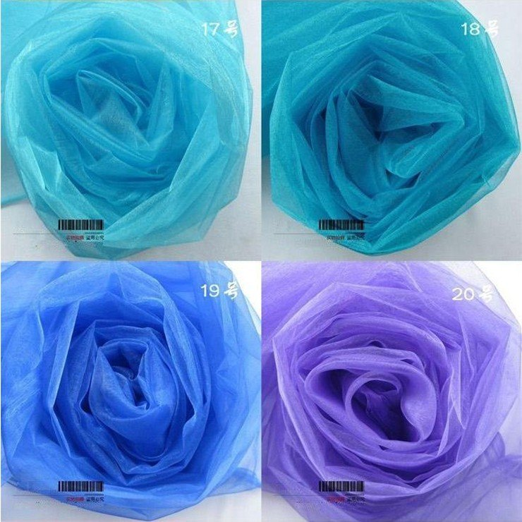 105etres/1roll.Organza with 24 colors.Breadth:70-75cm.Organza suit for Chair sashes. Wedding Birthday Celebration Party.etc.(China (Mainland))