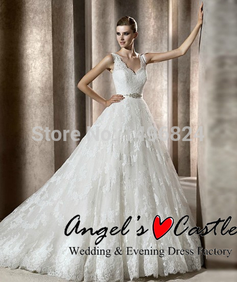 Romantic lace sashes wedding dresses high quality cheap for Cheap wedding dresses ebay