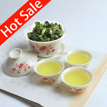 High Quality 4 PCS/SET Bone China Tea Sets pink blue and white gaiwan tea porcelain teapot set tea set for travel Free Shipping