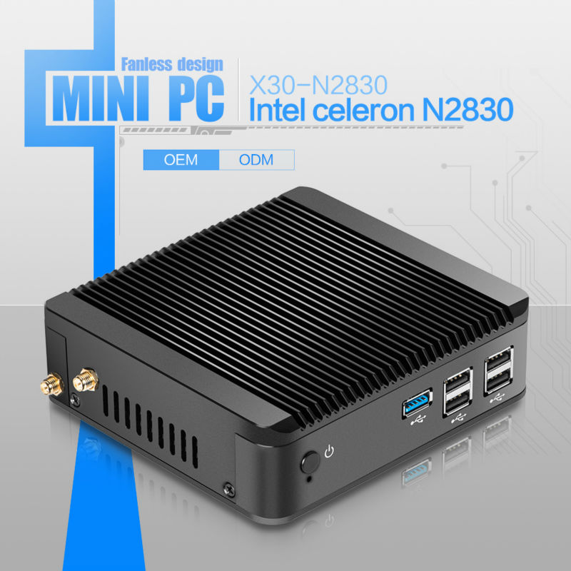 Hot selling MINI PC computer celeron N2830 network computer linux x30-n2830 dual core support performance 3D graphics win 7(China (Mainland))