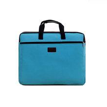 Прочный книга A4 документ сумка портфель-папка для бумаг Подарочный пакет с ручками застежкой-молнией короткие Бизнес, мужские дорожные сум...(China)