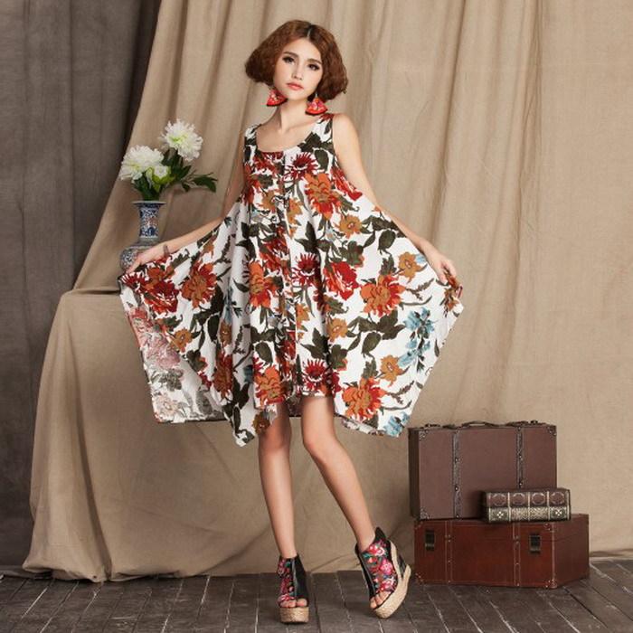Factory price! Sexy Women Short Sleeves Dress Bridesmaid Dress Flax Irregular Dress Best Girlfriend Gift Free Shipping!(China (Mainland))