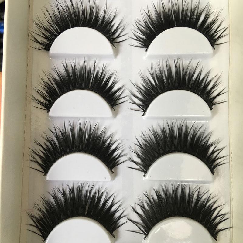 1 Box 6 Pairs False EyeLashes Thick Black False Eye Lashes Makeup Tips Natural Makeup Long Fake Eyelashes Maquiagem(China (Mainland))