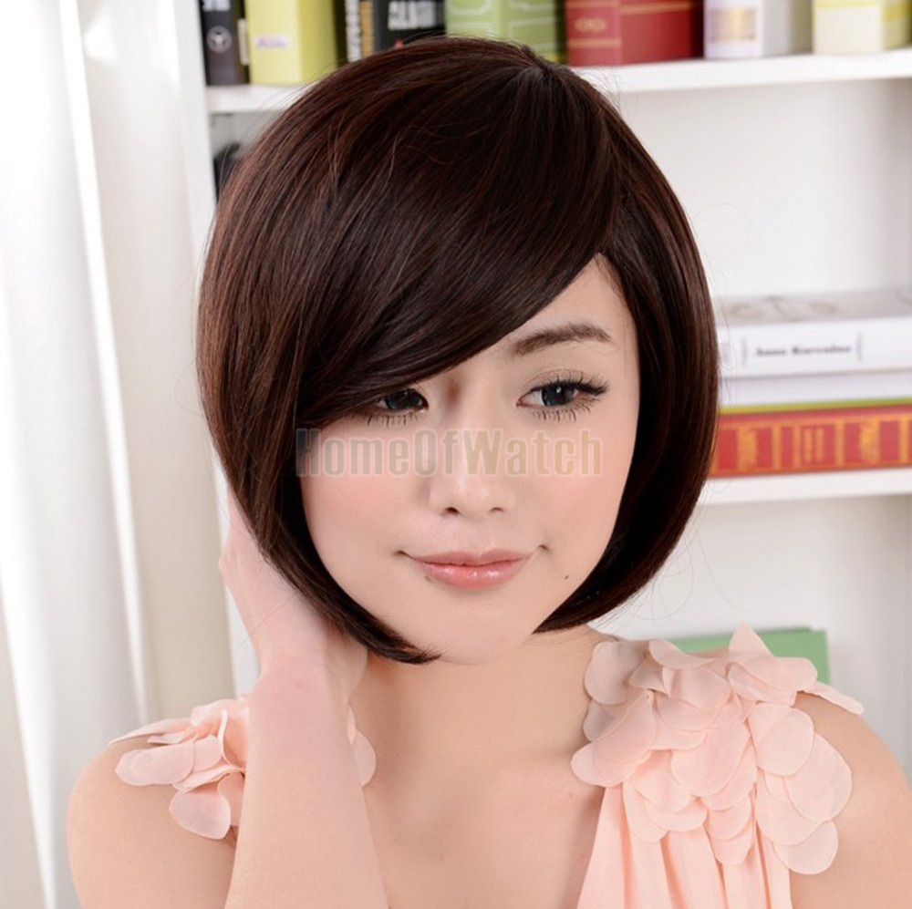 Free Shipping Hot Sale Sex Products Synthetic Hair Anime Cosplay Halloween Bob Short Brown Wigs For Women (NWG0SH60283-BN2)(China (Mainland))