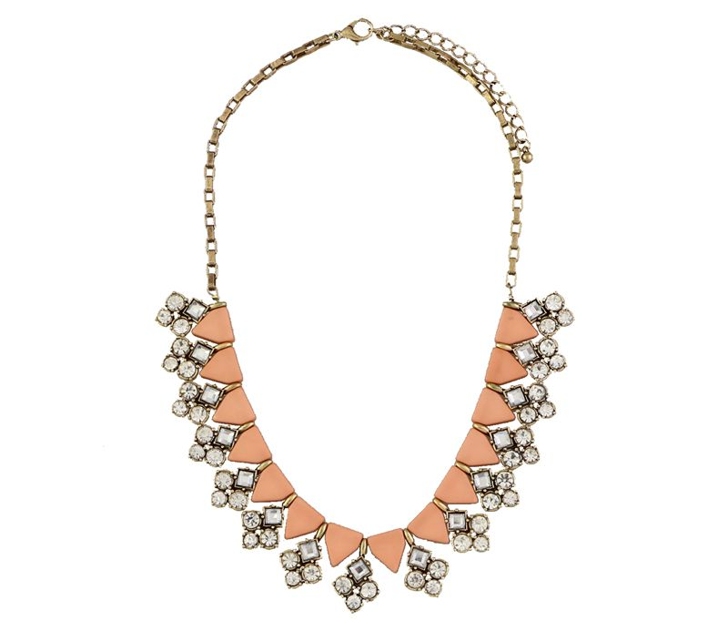Semi precious crystal pave stella sweet pink lace necklace for Stella and dot jewelry wholesale