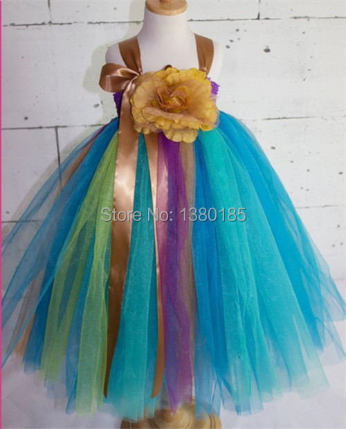 Newest colorful tutu dress girls chiffon fully fashion tutu baby girls ruffle dress free shipping(China (Mainland))
