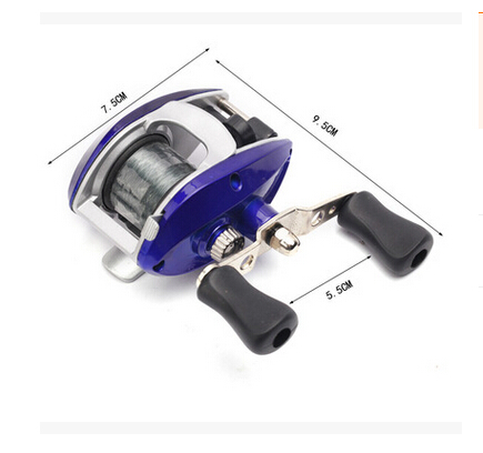 Free shipping Blue Bait Casting Fishing Reel Lure Casting Reels wheel lateral roller fishing reel salt water wheel and free line(China (Mainland))