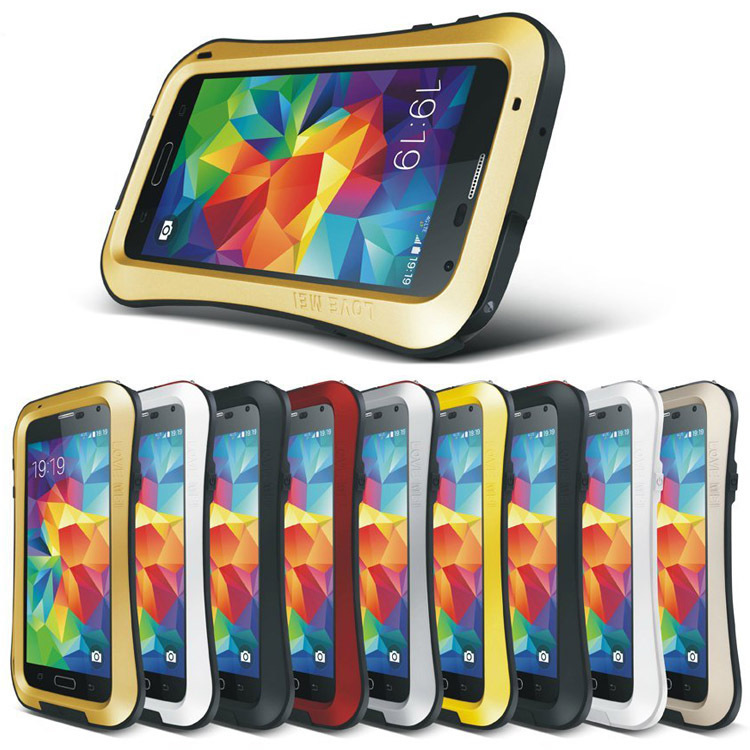 S5 Metal Aluminum Cover For  Galaxy S5 i9600 Case With Gorilla Glass Waterproof Shockproof Phone Housing Free Shipping