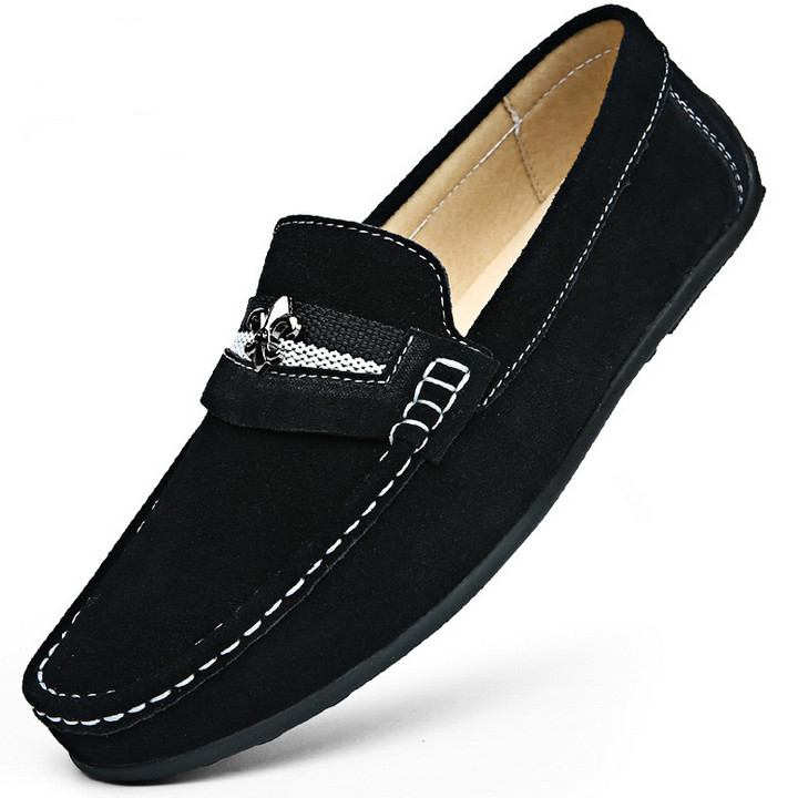 Top Quality Nubuck Leather Men Flats Casual Men Shoes Moccasins Gommino Driving Loafers Slip On Brand New Cross<br><br>Aliexpress