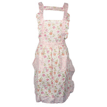 Fashion Women Home Kitchen Cooking Bib Flower Style Pocket Lace Apron Dress Anne(China (Mainland))